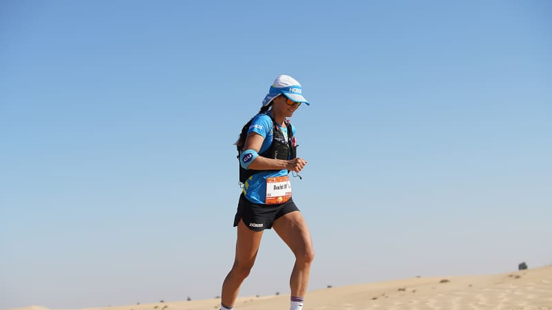 Magdalena Boulet from the US won the women's race -- one of only four women to complete the 270 kilometer edition of the inaugural ultramarathon.