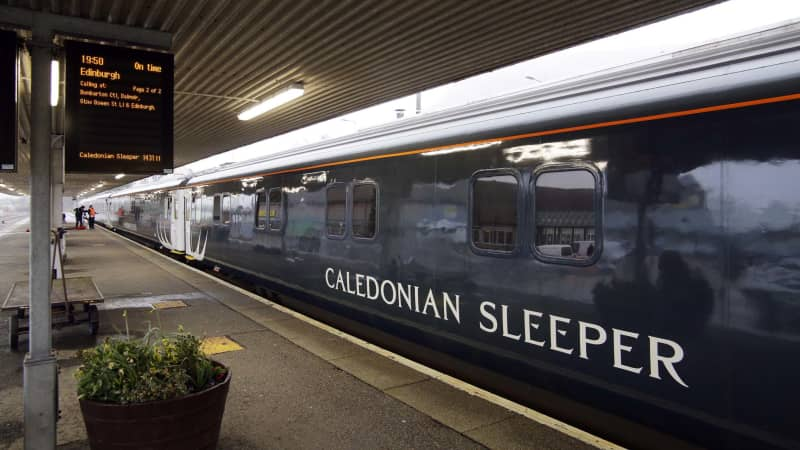 The Calendonian Sleeper whisks passengers from London to Scotland.