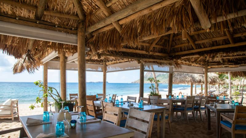 Le Toiny's Beach Club is the property's latest draw.