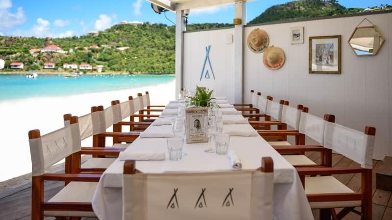 Nikki Beach Saint Barth is the sought-after beach club that also has good food.