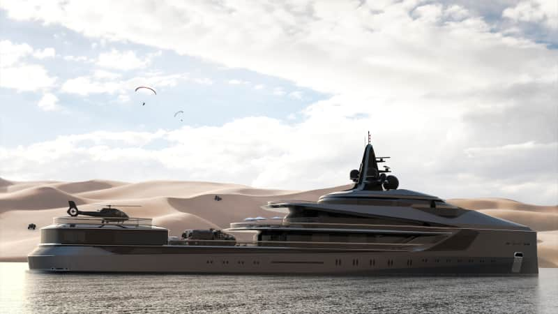 "The diesel-electric Esquel fits a contemporary trend of superyachts that can function as marine laboratories as well as a vacation vessel for high net-worth individuals. Oceanco say it's ""ideal for couples or friends who want to take a 'gap year' from their everyday routine."""