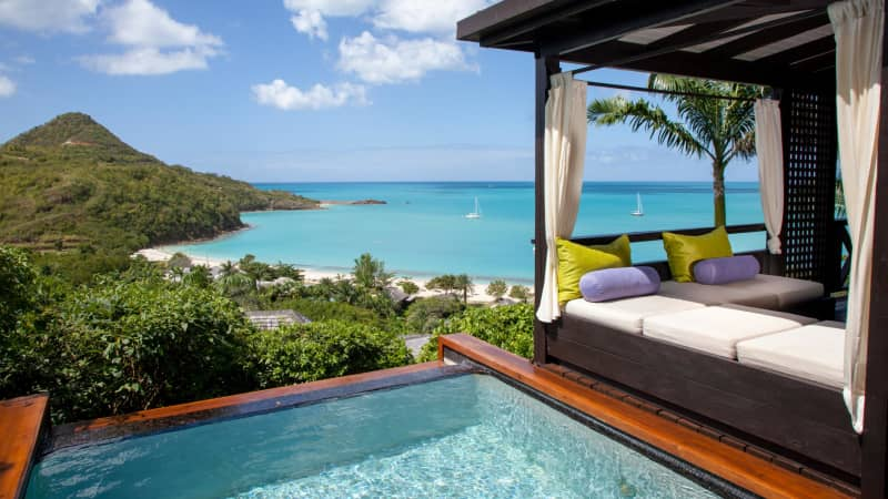 Hermitage Bay resort boasts a secluded setting perfect for relaxation.