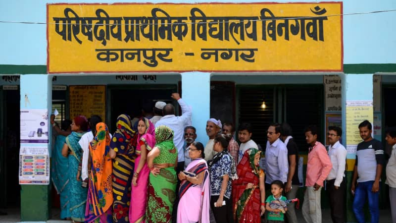 India's general parliamentary elections run from April 11 to May 19, with the results to be declared on May 23.