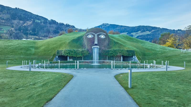 The Giant in the garden of the Swarovski Crystal Worlds