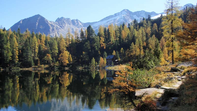Fantastic scenery of the Reedsee near Bad Gastein