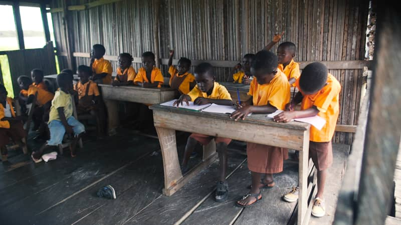 After primary school, students have to leave Nzulezo for secondary education