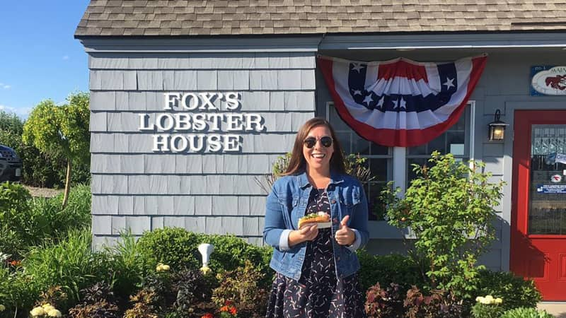 Jessop took a photo with her second lobster roll to prove she did eventually get to eat one.