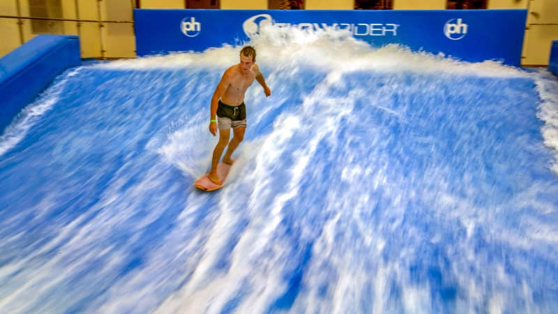 No need to hit the beach to catch a sick wave, especially when you can say you did in the middle of the desert.