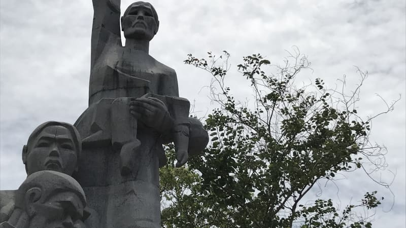 A statue at the Son My memorial site in Vietnam honors those killed in the My Lai massacre in 1968.