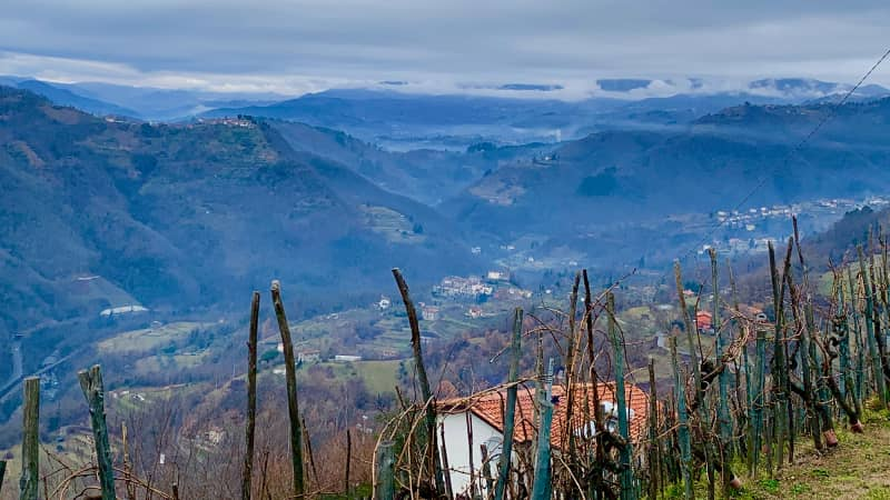 The vast view of Barga's valley is inviting.