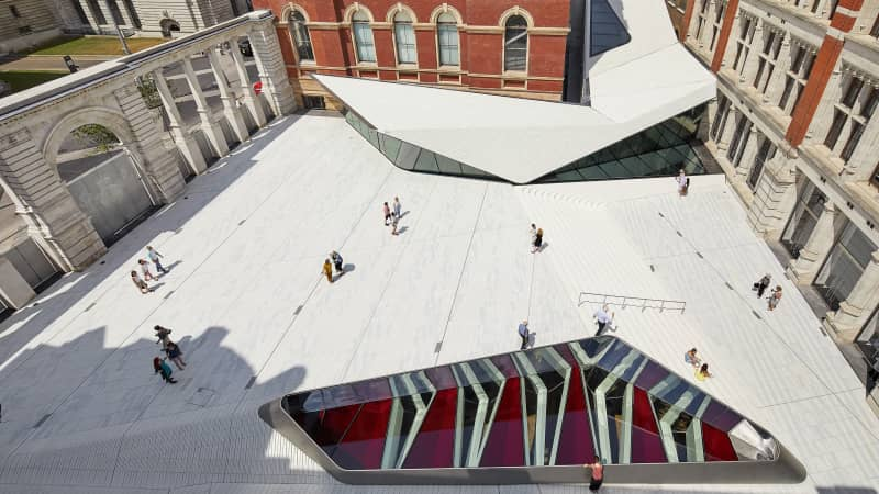 The V&A's Exhibition Road Quarter has opened to visitors a fancy porcelain-tiled courtyard and subterranean galleries.