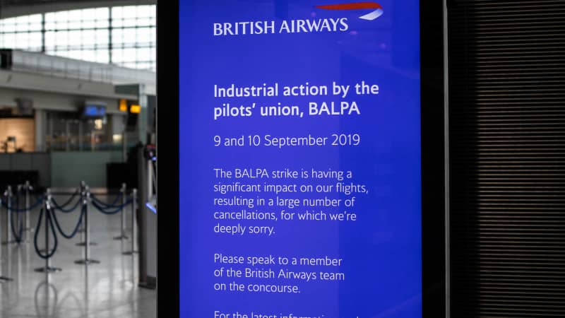 The British Airways pilots strike has already affected up to 280,000 passengers this week