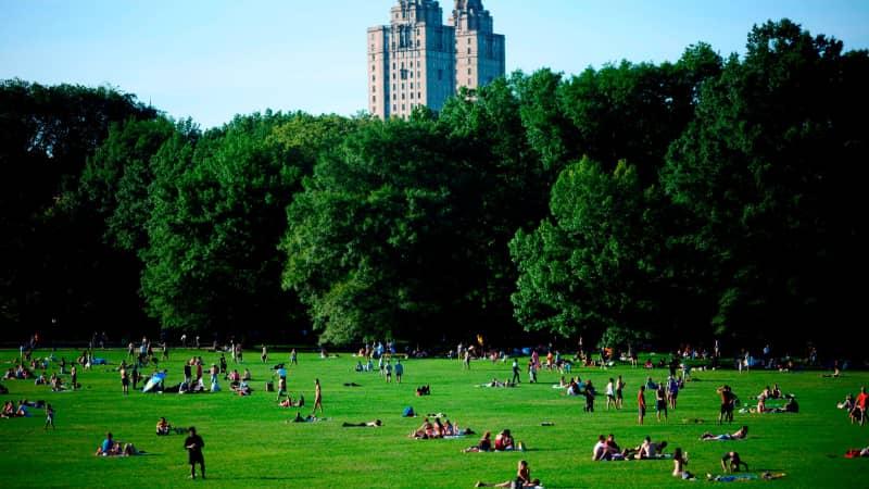 Manhattan shoppers who reach retail fatigue can head to Central Park for a break.