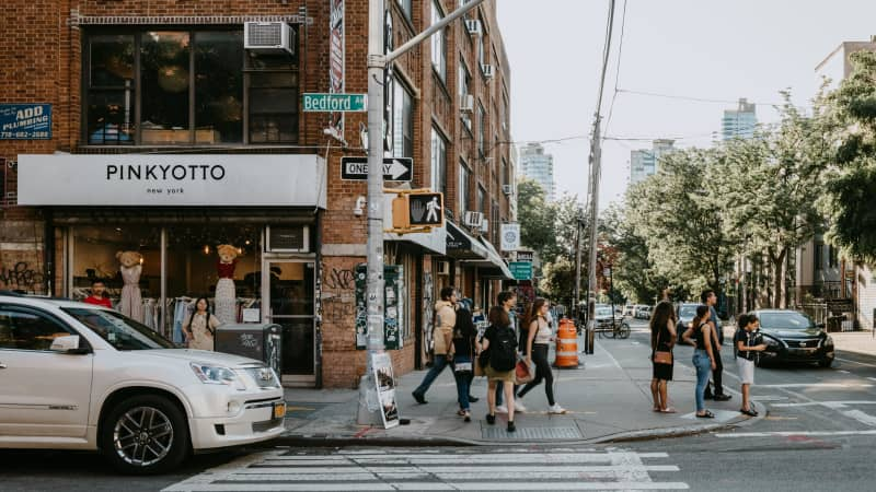 Bedford Avenue in Williamsburg has been mainstreamed with some bigger brand stores, but hipster indie finds are still a big draw.