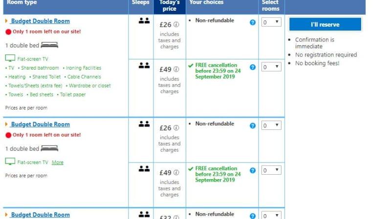 booking.com 'misleading' travelers