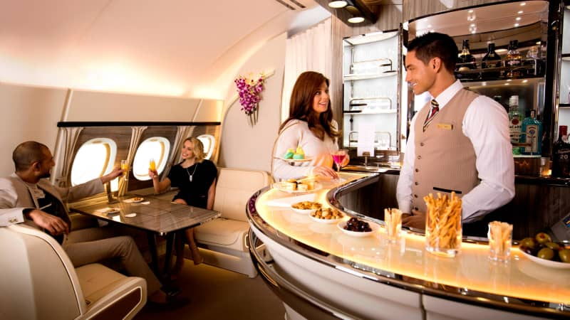 Yes, that's the Emirates' in-flight bar.