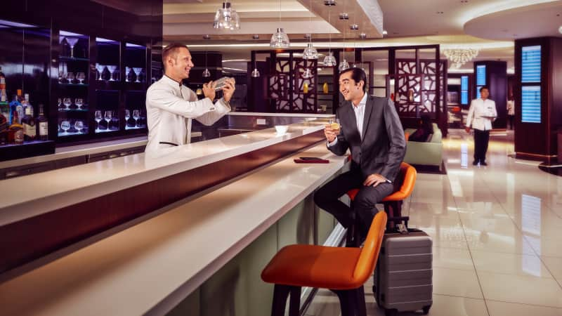 Etihad Airways equates to luxury, from arrival to lounge to in-flight first-class, which boasts butlers and travel concierges among other amenities.