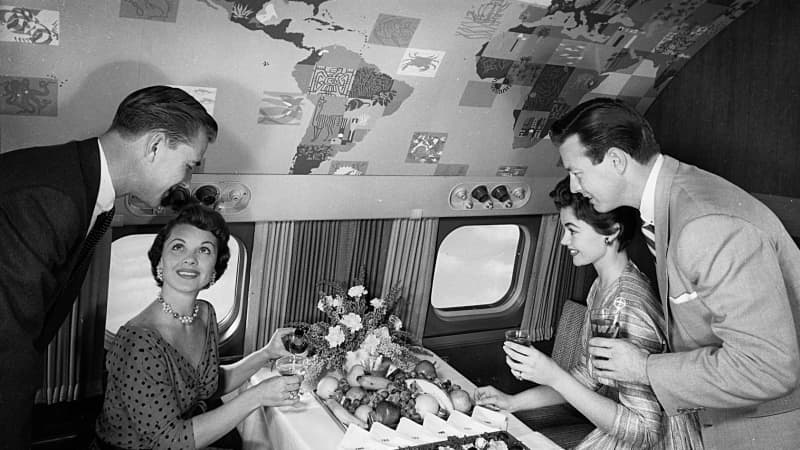 Sixty years ago, air travel was a glamorous concept.