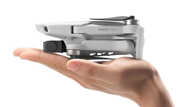 The Mavic Mini weighs in at just 249 grams -- that's about as much as two bananas.