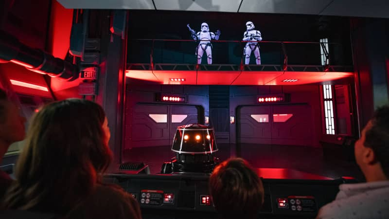 An R5-J2 Imperial astromech droid-driven transport is your escape vehicle off a Star Destroyer.