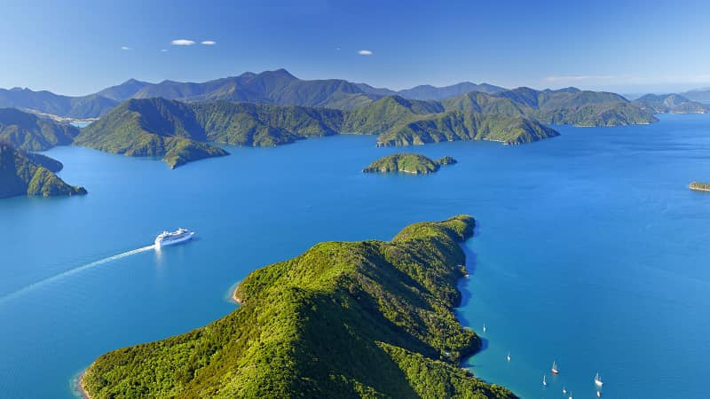 Marlborough Sounds is home to more than 50 reserves and 20% of the country's coastline.