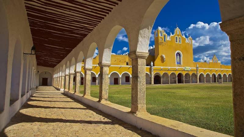 "Izamal, known for its bright yellow buildings, is one of Mexico's ""magical towns."""