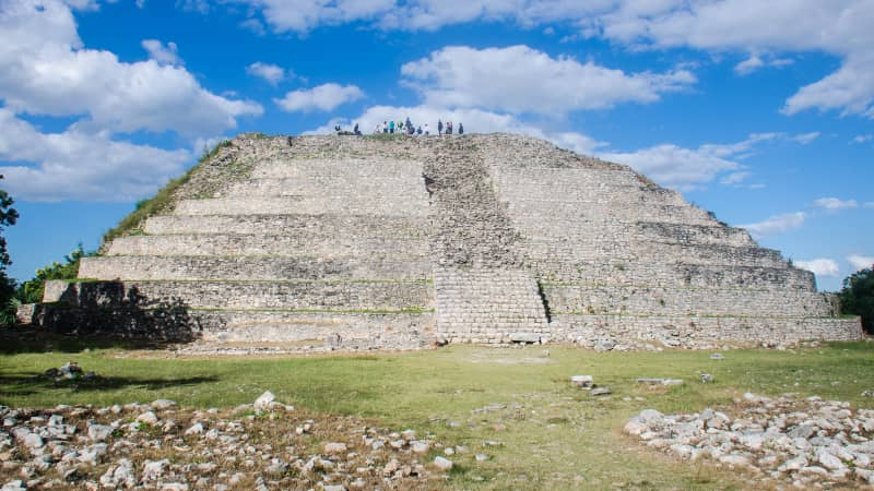 Izamal is also home to Mayan ruins.