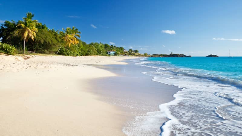 Turners Beach is a delightful spot on the southwest coast of Antigua.