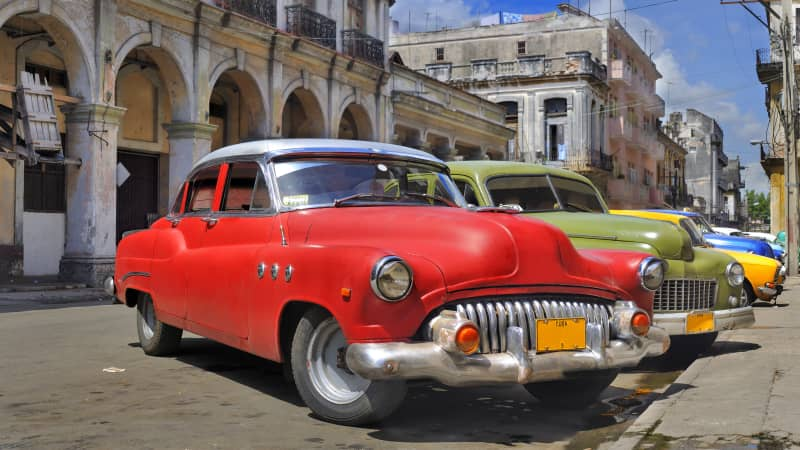 Classic American cars are everywhere in Havana.