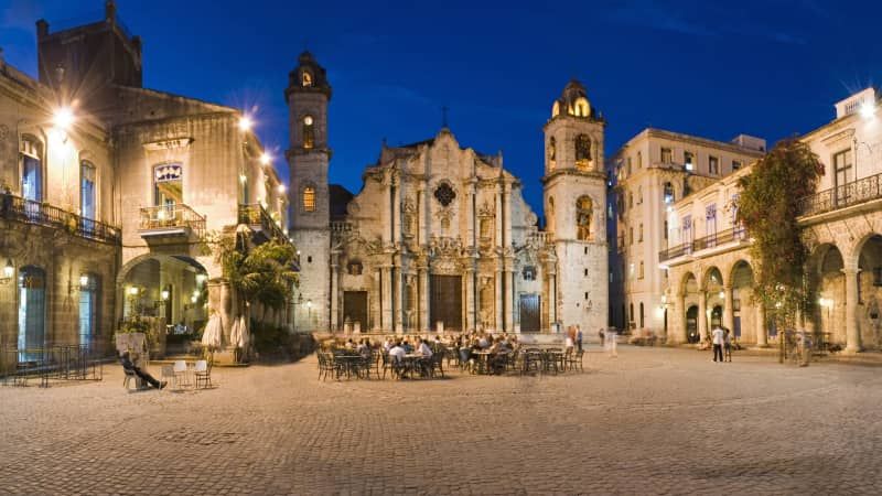 The Cathedral of Havana dominates the plaza that bears its name.