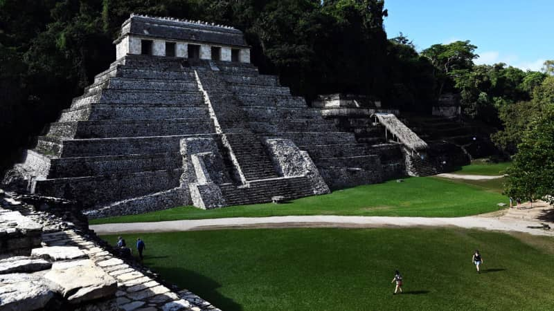 Although US citizens can visit Mexico, many are opting for more remote locales like these ruins in Chiapas as opposed to a visit to Mexico City.
