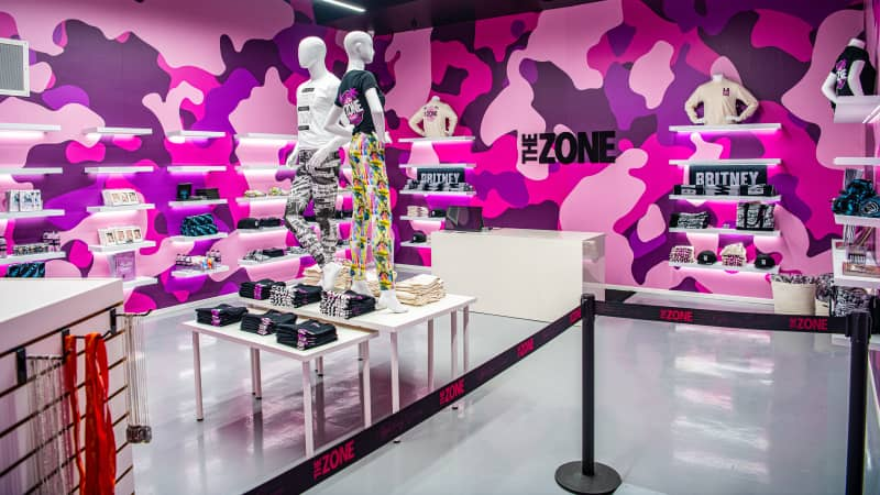 The interactive pop-up museum and retail experience in Los Angeles, The Zone: Britney Spears runs until April 26.