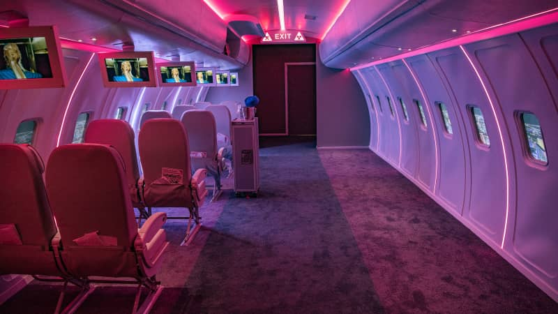 "The pop-up also features an airplane cabin from the infamous ""Toxic"" video in which fans can opt for a window or aisle seat and watch the music video playing on drop-down screens."