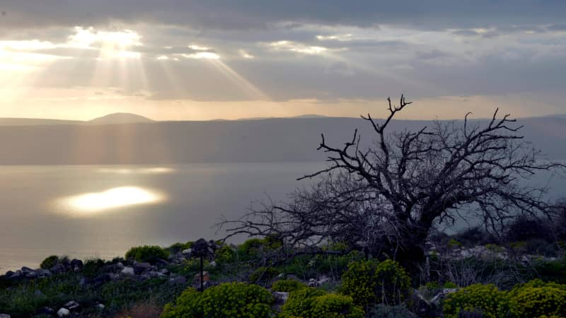 Also known as Lake Tiberias, the Sea of Galilee is the lowest freshwater lake in the world.