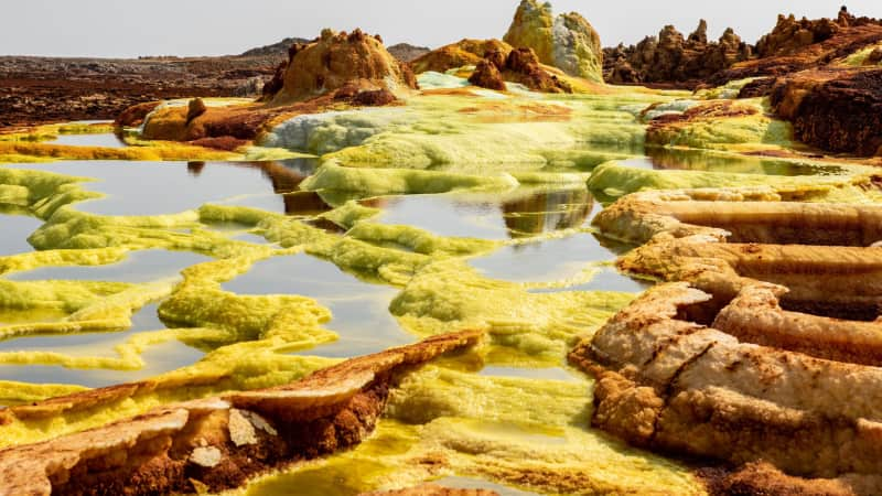 Danakil Depression has to be one of Earth's most otherworldly landscapes.