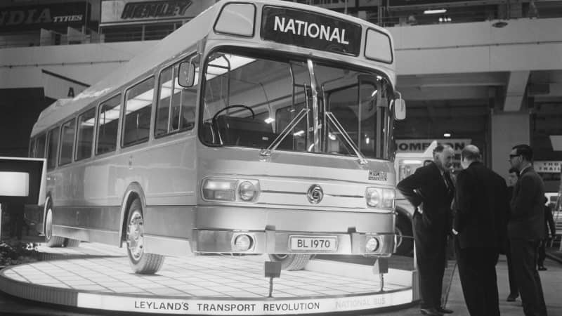 The Pacer uses the chassis of a Leyland bus similar to this model from the 1970s.
