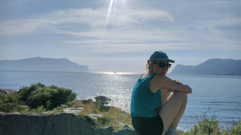 Stella Wedell on holiday in Scandinavia during the summer of 2019