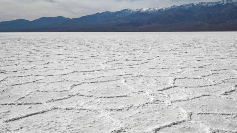 Death Valley terminates in eerie Badwater Basin.
