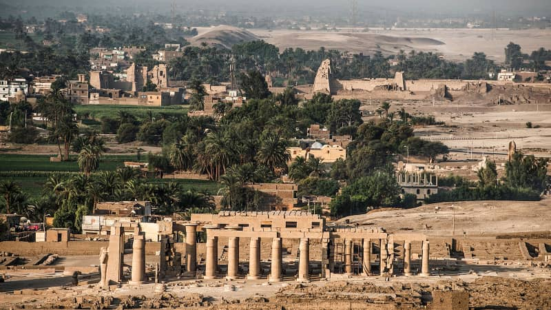 The Ramesseum temple is a stunning sight in the southern Egyptian town of Luxor.