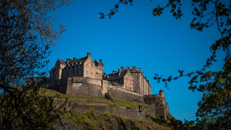 Edinburgh Castle is pictured on the Castle Rock in Edinburgh