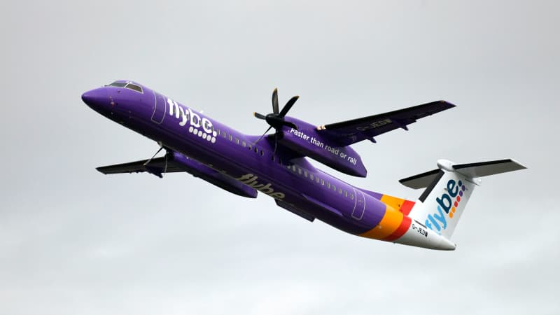 Flybe's fleet was a mix of Bombardiers and Embraers.