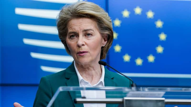 European Commission President Ursula von der Leyen proposed that the EU close its borders to non-essential travel on March 16.