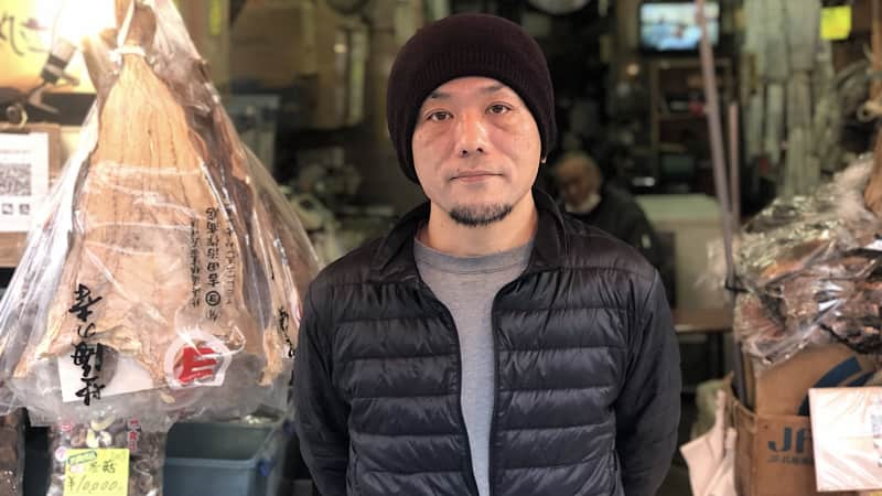 Tokyo seafood vendor Naoto Furusawa says business is terrible at the moment.