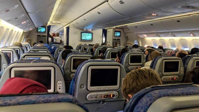 aboard the flight