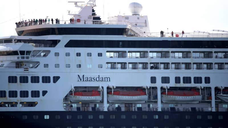The Holland America cruise ship Maasdam pictured here pulling into San Diego Bay on March 26.