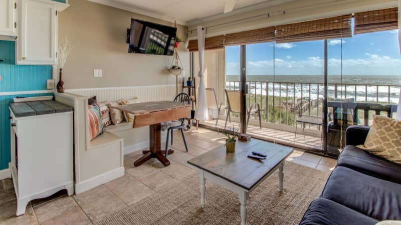 It's a great view from Richard White's rental condo at Carolina Beach.