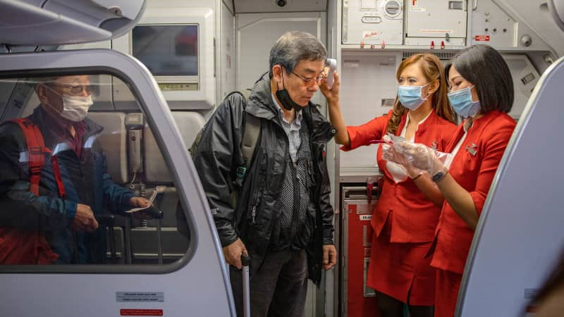 The risk of infection on board airplanes isn't fully understood.