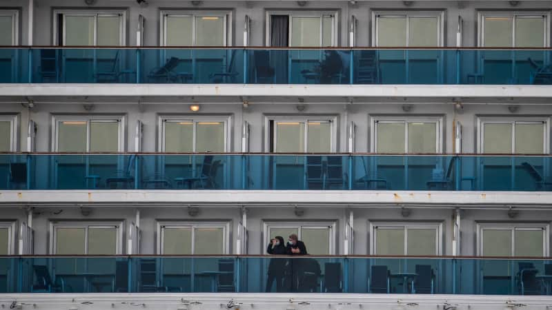 The Diamond Princess cruise ship became a Covid-19 hotspot after passengers were quarantined on board.