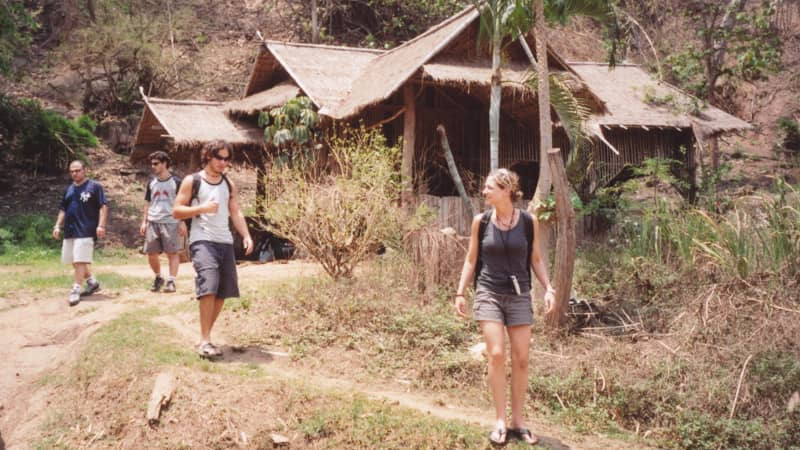 Trekking in Northern Thailand.