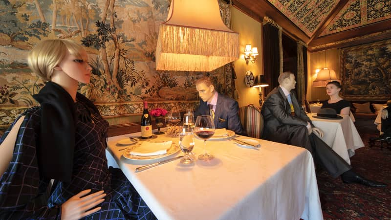 Mannequins will be seated among restaurant diners, according to chef of The Inn at Little Washington.